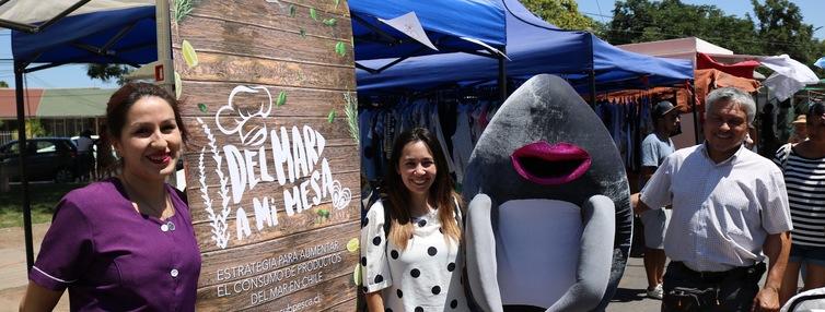 Enseñan bondades de los productos del mar a vecinos de Maipú